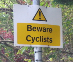 Beware bicycles