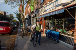 From Money Magazine: This man is not retired, but does enjoy cycling in Northfield