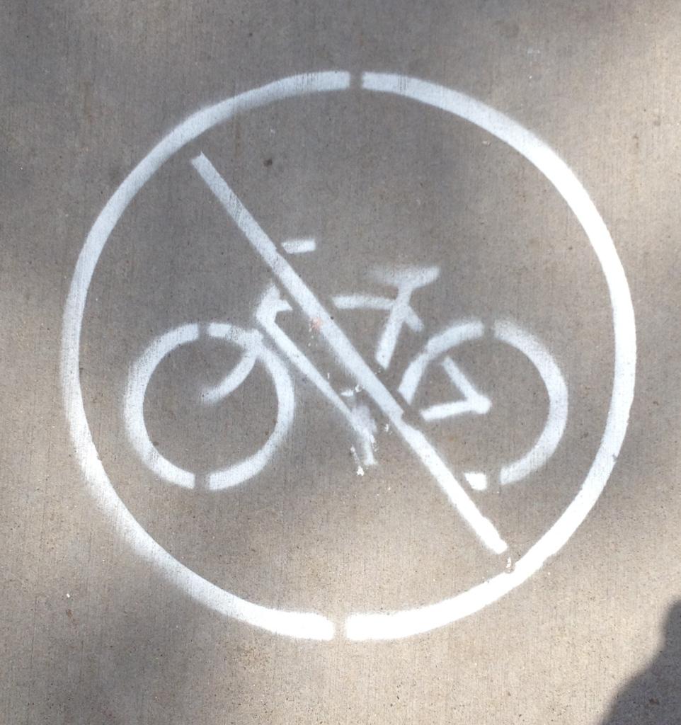 No Bikes!