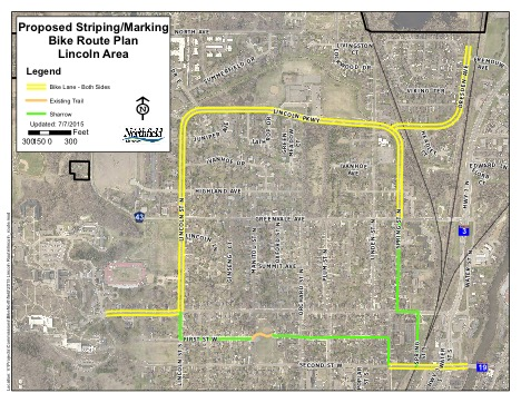 Map of West Side improvements