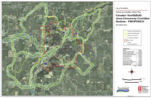 Northfield Greenway Corridors system map