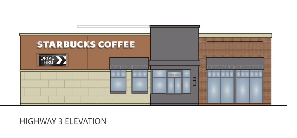 Highway 3 Concept Elevation For Proposed Northfield Starbucks Image ZBA Packet