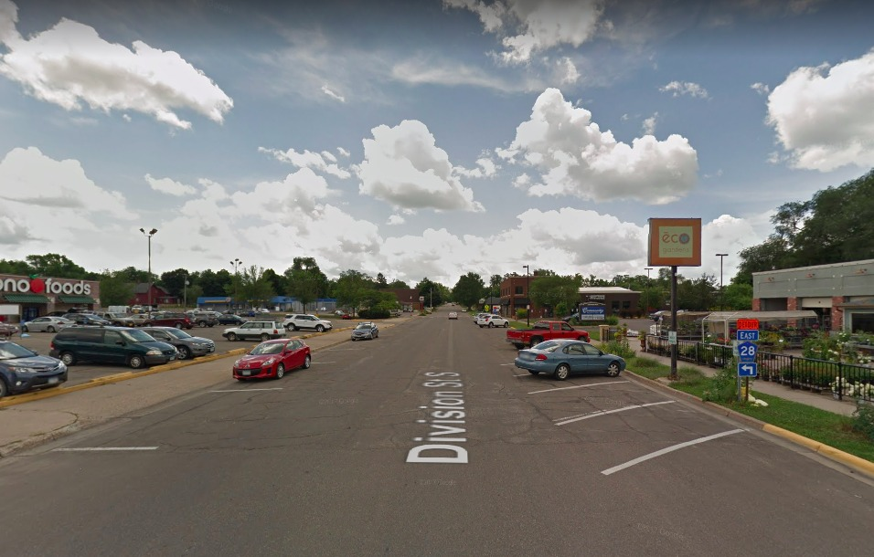 Google streetview image of Northfield MN Division Street